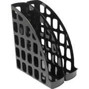 Staples® Black Plastic Magazine Files, 2 Pack