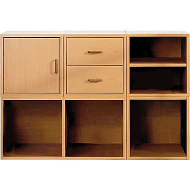 Foremost® Hold'ems 5-in-1 Modular Cube Storage System Kit, Honey Oak