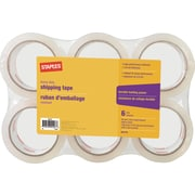 Staples® Heavy-Duty Shipping Tape, 1.89 x 54.7 Yards, 6 Rolls