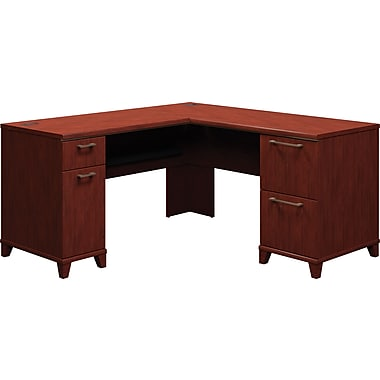 Bush Enterprise Collection 60in. L-Desk, Harvest Cherry