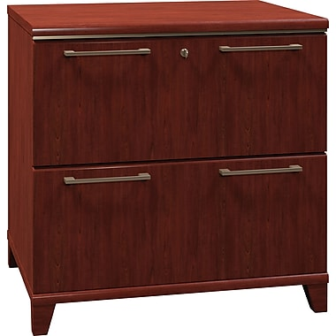 Bush Business Enterprise 30W 2-Drawer Lateral File, Harvest Cherry, Installed