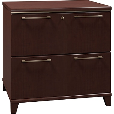 Bush Enterprise 30in.W 2-Dwr Lateral File, Mocha Cherry