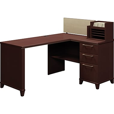 Bush Business Enterprise 60W x 47D Corner Desk Solution, Mocha Cherry, Installed