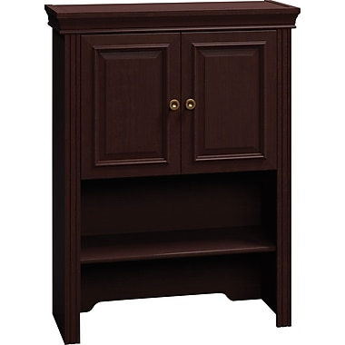 Bush Business Syndicate 30W Lateral File Hutch, Mocha Cherry, Installed