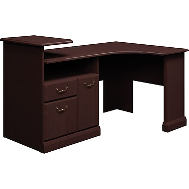 Bush® Syndicate Corner Desk Solution, Mocha Cherry, Fully Assembled