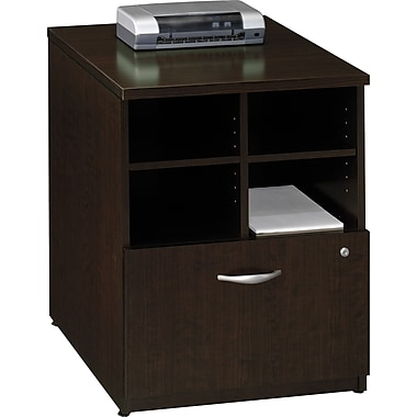 Bush Westfield 24in. Storage Cabinet, Mocha Cherry, Fully assembled