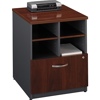 Bush Westfield 24in. Storage Cabinet, Hansen Cherry/Graphite Gray, Fully assembled