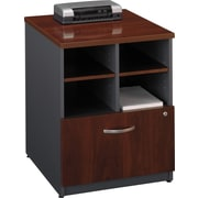 Bush Westfield 24 Storage Cabinet, Hansen Cherry/Graphite Gray, Fully assembled