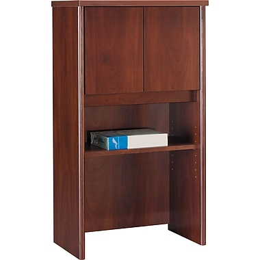Bush Westfield 24in. Storage Hutch, Hansen Cherry/Graphite Gray
