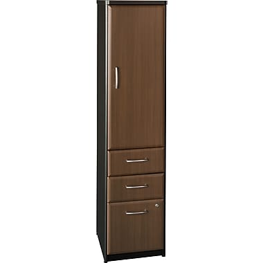 Bush Cubix Vertical Locker, Cappuccino Cherry/Hazelnut Brown