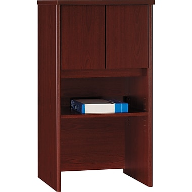 Bush Westfield 24in. Storage Hutch, Cherry Mahogany, Fully assembled