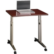 Bush Westfield Adjustable Height Mobile Table, Cherry Mahogany, Installed