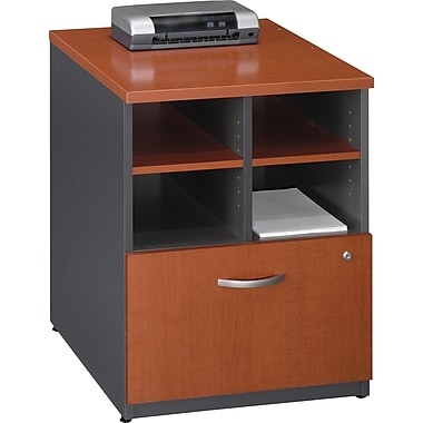 Bush Westfield 24in. Storage Cabinet, Autumn Cherry/Graphite Gray, Fully assembled