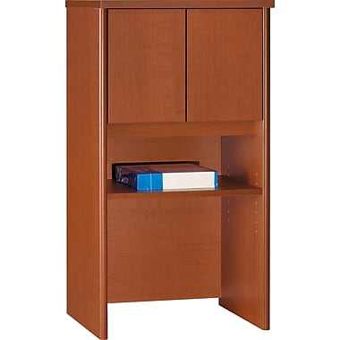 Bush Westfield 24in. Storage Hutch, Auburn Maple/Graphite Gray, Fully assembled