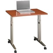 Bush Business Westfield 36W Adjustable Height Mobile Table, Autumn Cherry/Graphite Gray, Installed