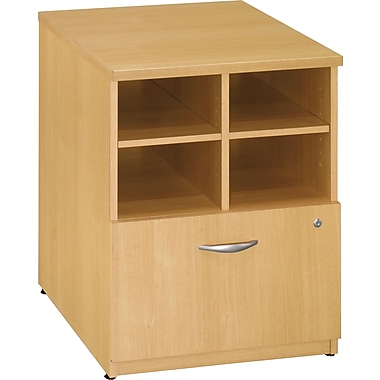 Bush Westfield 24in. Storage Cabinet, Light Oak, Fully assembled