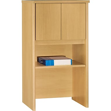 Bush Westfield 24in. Storage Hutch, Light Oak
