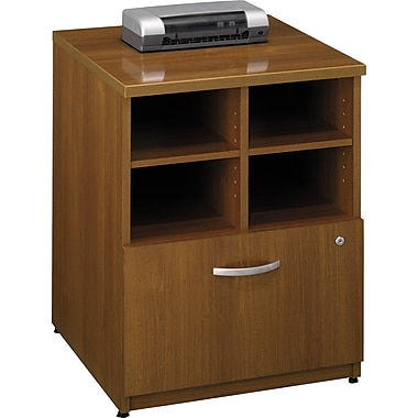 Bush Westfield 24in. Storage Cabinet, Warm Oak, Fully assembled