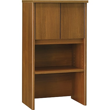 Bush Westfield 24in. Storage Hutch, Cafe Oak, Fully assembled