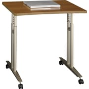 Bush® Westfied Fully Assembled Mobile Desk/Table, Cafe Oak
