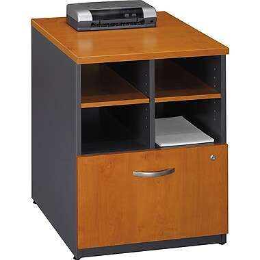 Bush Westfield 24in. Storage Cabinet, Natural Cherry/Graphite Gray, Fully assembled
