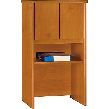 Bush Westfield 24in. Storage Hutch, Natural Cherry/Graphite Gray