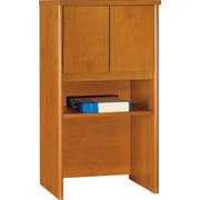 Bush Westfield 24 Storage Hutch, Cafe Oak, Natural Cherry/Graphite Gray