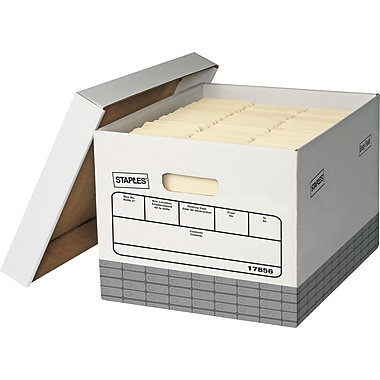 Staples® Triple Wall Storage Boxes, 4/Pack