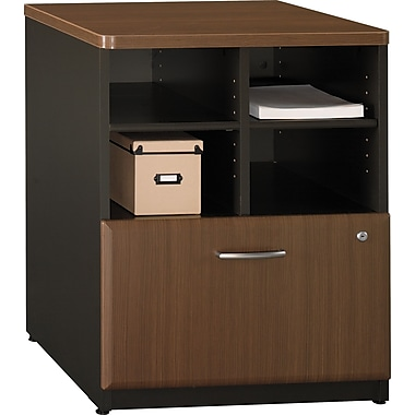 Bush® Cubix 24in. Storage Cabinet, Cappuccino Cherry/Hazelnut Brown, Fully assembled