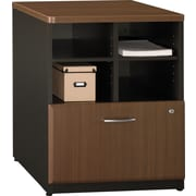 Bush® Cubix 24 Storage Cabinet, Cappuccino Cherry/Hazelnut Brown, Fully assembled