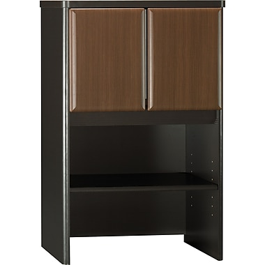 Bush® Cubix 24in. Storage Hutch, Cappuccino Cherry/Hazelnut Brown, Fully assembled