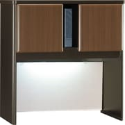 Bush Cubix 36 Hutch, Cappuccino Cherry/Hazelnut Brown, Fully assembled