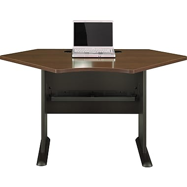 Bush® Cubix 42in. Corner Desk, Cappuccino Cherry/Hazelnut Brown, Fully assembled