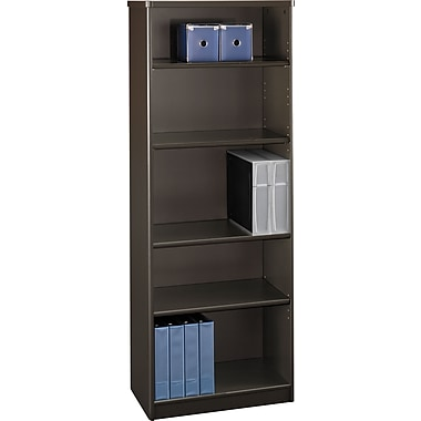 Bush Cubix 5-Shelf Bookcase, Cappuccino Cherry/Hazelnut Brown, Fully assembled