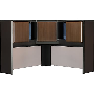 Bush Cubix 48in. Corner Hutch, Cappuccino Cherry/Hazelnut Brown