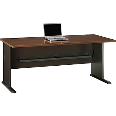 Bush Cubix 72in. Desk, Cappuccino Cherry/Hazelnut Brown, Fully assembled