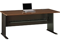 Bush Cubix 72' Desk, Cappuccino Cherry/Hazelnut Brown