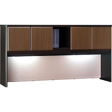 Bush Cubix 72in. Hutch, Cappuccino Cherry/Hazelnut Brown