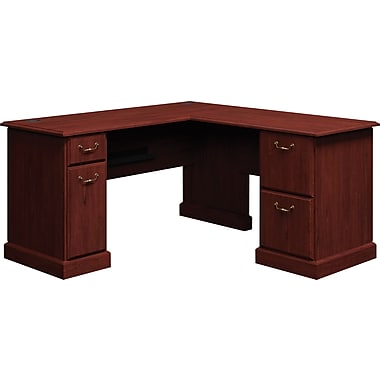 Bush Business Syndicate 60W x 60D L-Desk, Harvest Cherry