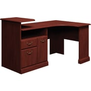 Bush® Syndicate Corner Desk Solution, Harvest Cherry, Fully Assembled