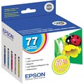 Epson 77 Color C/M/Y/LC/LM Ink Cartridges (T077920), High Yield, Combo 5/Pack