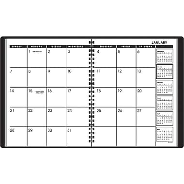 2013 AT-A-GLANCE® Recycled Monthly Classic Planner, 6 -7/8in. x 8-3/4in.