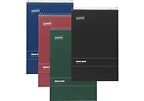 Staples® Wirebound Steno Books, Gregg Ruled, 6' x 9'