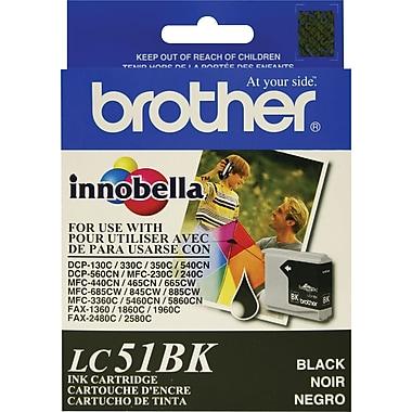 Brother – Cartouche d'encre LC51BK, noire