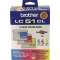 Brother LC51CL Color Ink Cartridges, 3/Pack