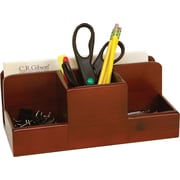 Staples MSC2-8002 Wood Desk Caddy, Mahogany