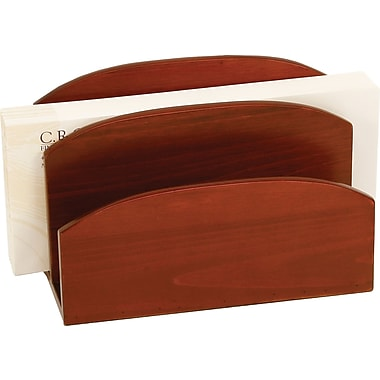 Staples MLH2-8002 Mahogany Wood Desk Letter Sorter