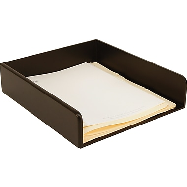 Staples Wood Desk Letter Tray, Black
