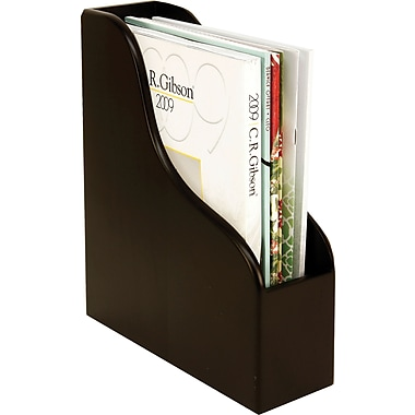 Staples Wood Desk Magazine File, Black