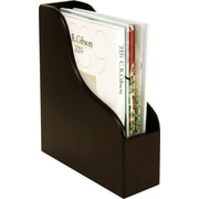 Staples® Wood Desk Magazine File, Black